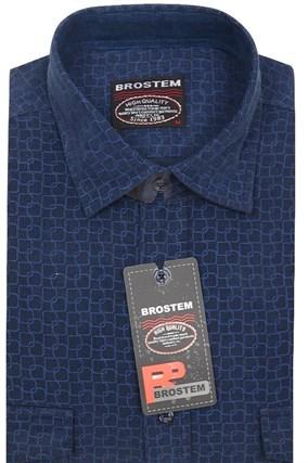 Вельветовая мужская рубашка хлопок полуприталенная Brostem  VT13 - фото 13308