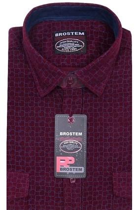 Вельветовая мужская рубашка хлопок полуприталенная Brostem  VT15 - фото 13310