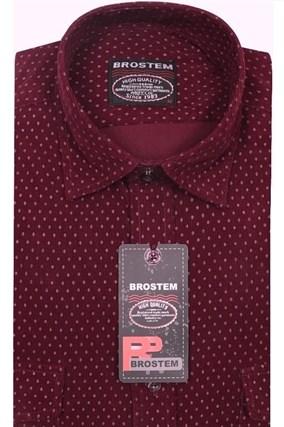 Вельветовая мужская рубашка хлопок полуприталенная Brostem  VT2 - фото 13312