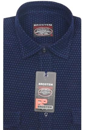 Вельветовая мужская рубашка хлопок полуприталенная Brostem  VT9 - фото 13322