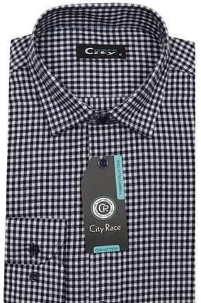 Приталенная рубашка с кашемиром City Race KAC2459 - фото 13324