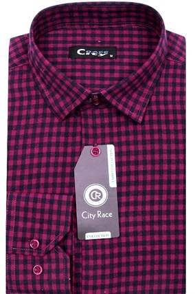 Приталенная мужская рубашка кашемир City Race KAC15028E - фото 13334