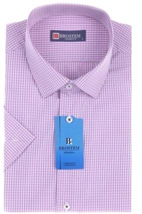 Большая 47(5XL) рубашка короткий рукав BROSTEM 8SG027-1sg - фото 13359