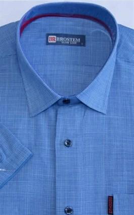 Мужская рубашка с коротким рукавом полуприталенная 8SB23-3s-pp - фото 13670