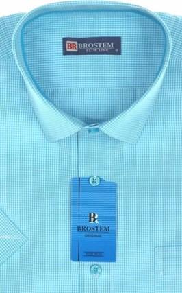 Мужская рубашка с коротким рукавом полуприталенная 8SB-1s-pp - фото 13682