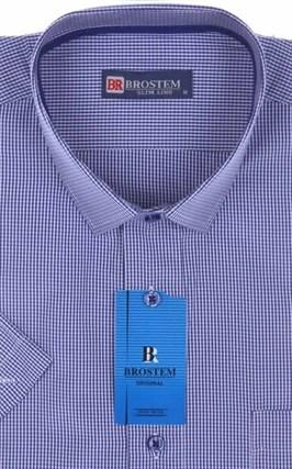 Мужская рубашка с коротким рукавом полуприталенная 8SB-3s-pp - фото 13684