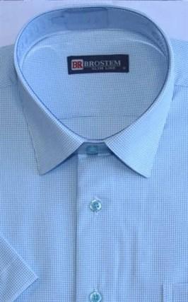Мужская рубашка с коротким рукавом полуприталенная 8SB10-2s-pp - фото 13687