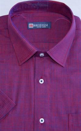 Мужская рубашка с коротким рукавом полуприталенная 8SB24-2s-pp - фото 13710