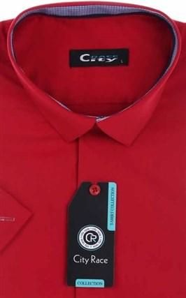Мужская рубашка с коротким рукавом приталенная, CITY RACE 8SC06-3s-p - фото 13716