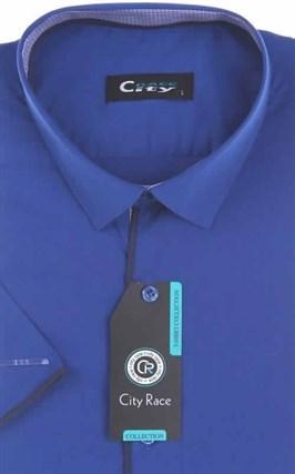 Мужская рубашка с коротким рукавом приталенная, CITY RACE 8SC07-4s-p - фото 13726