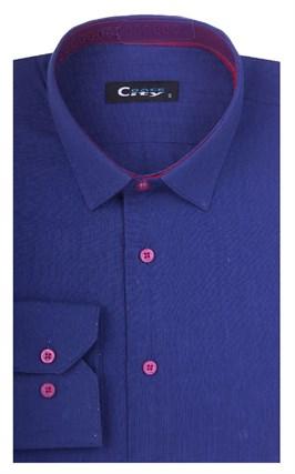 Полуприталенная лен с хлопком мужская рубашка 8LCR8-2-pp CITY RACE BROSTEM - фото 14123