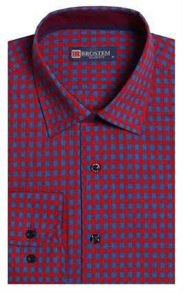 Приталенная лен с хлопком мужская рубашка BROSTEM 8LBR9-6-pp - фото 14167