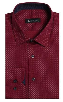 Приталенная стрейч хлопок мужская рубашка 8LCR24-3-pp CITY RACE BROSTEM - фото 14200