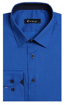 Приталенная хлопок стреч мужская рубашка 8LCR24-4-pp CITY RACE BROSTEM - фото 14203
