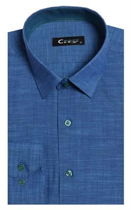 Полуприталенная лен с хлопком мужская рубашка 8LCR8-5-pp CITY RACE BROSTEM - фото 14212