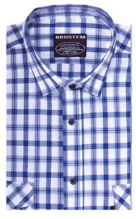 Хлопковая мужская рубашка в клетку классического силуэта SH778 BROSTEM - фото 14271