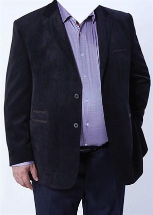 Большой вельветовый пиджак П-1324 Benafetto - фото 14306