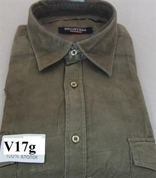 Вельветовая большая рубашка хлопок Brostem V17g - фото 14370