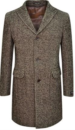 Коричневое пальто на утеплителе ДИЛЬСДОРФ SF - фото 14376