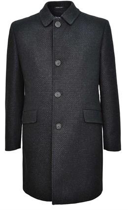Твидовое серое пальто на утеплителе ЗАНЕН SF - фото 14407