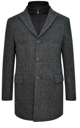 Серое пальто на утеплителе ЛЕЙСЕН SF - фото 14413