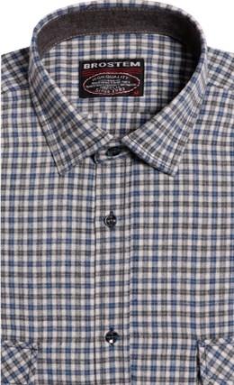 Большая фланелевая рубашка BROSTEM 8LG42+3g - фото 14428
