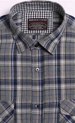Мужская фланелевая рубашка BROSTEM 8LBR49+1 - фото 14450