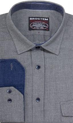 Фланелевая приталенная рубашка шерсть/хлопок Brostem 8LBR20+1 - фото 14456