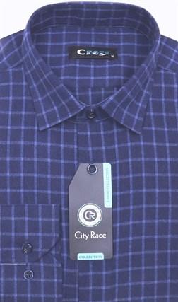 Приталенная кашемир рубашка City Race KAC15019D - фото 14469