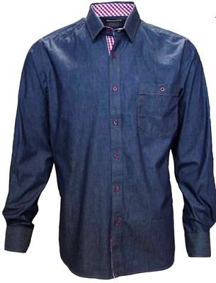 Джинсовая приталенная рубашка BROSTEM 8LBR65-2 - фото 14519