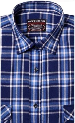 Фланелевая рубашка шерсть-хлопок BROSTEM 8LBR76-3 - фото 14556