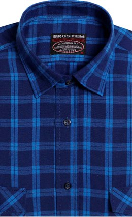 Фланелевая рубашка шерсть-хлопок BROSTEM KA7050(9LBR2-5) - фото 14564