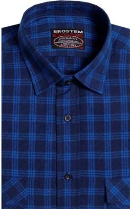 Фланелевая рубашка шерсть-хлопок BROSTEM 8LBR77-3 - фото 14582