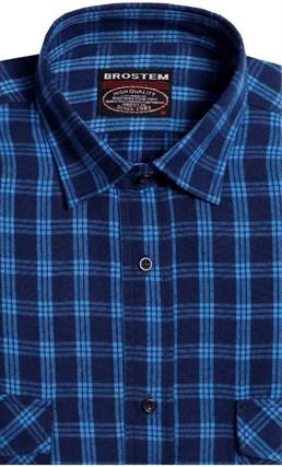 Фланелевая рубашка шерсть-хлопок BROSTEM 8LBR77-3 - фото 14584