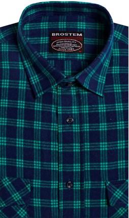 Фланелевая рубашка шерсть-хлопок BROSTEM KA6053(9LBR2-2) - фото 14592