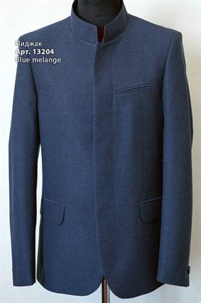 Пиджак из поливискозы со стойкой 13204 blue melange - фото 14748