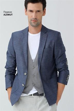 Пиджак полуприталенный с налокотниками AZIMUT - фото 14787