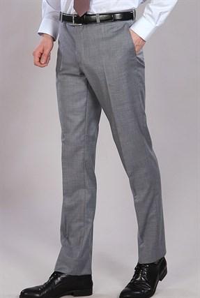 Серые мужские брюки меланж