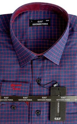 Мужская сорочка полуприталенная 4292-17 - фото 15038