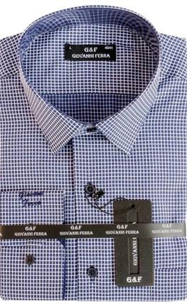 Мужская сорочка полуприталенная 4288-6 - фото 15042