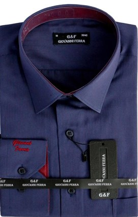 Мужская сорочка полуприталенная 6093-8 - фото 15052