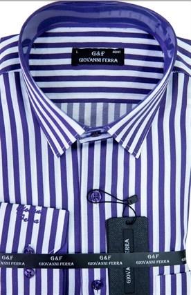 Мужская сорочка полуприталенная 1140 - фото 15062