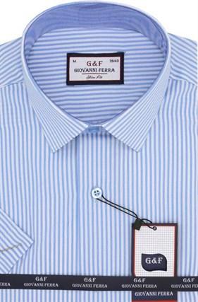 Полуприталенная рубашка к/р 8003-1 - фото 15090