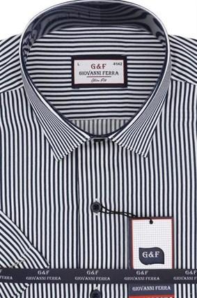 Полуприталенная рубашка к/р 8003-3 - фото 15092