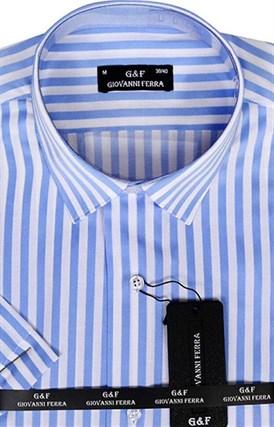 Полуприталенная рубашка к/р KAR-16028-4 - фото 15130