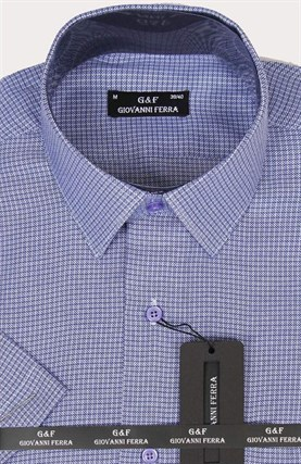 Полуприталенная рубашка к/р KAR-16099-2 - фото 15138