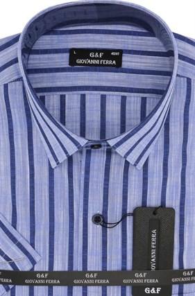 Полуприталенная рубашка к/р TEK 5222-2 - фото 15152