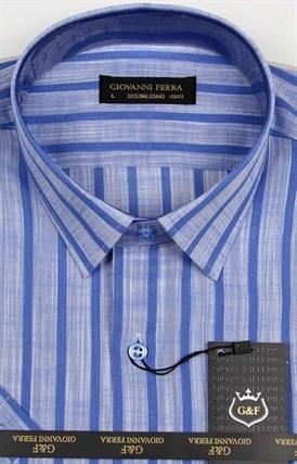 Полуприталенная рубашка к/р TEK 5222-4 - фото 15154