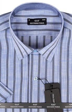 Полуприталенная рубашка к/р TEK 5222-3 - фото 15156