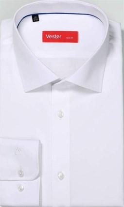 Белая сорочка slim fit с эластаном